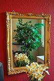 Livitat Spiegel Wandspiegel Badspiegel barock antik gold 37 x 47 cm
