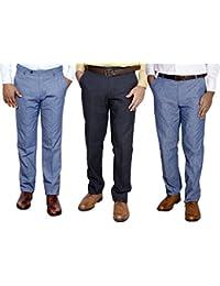 IndiWeaves Combo Offer Mens Formal Trouser (Pack Of 3) - B01JRQNO3C