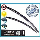 2 x Premium HYBRID Scheibenwischer / Set - Satz / 530 - 530mm / Front - Frontscheibenwischer / Wischerblätter AERO / Premium Qualität SHYBPOLY-739