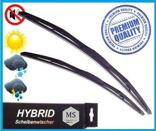 Preisvergleich Produktbild 2 x Premium HYBRID Scheibenwischer / Set - Satz / 450 - 450mm / Front - Frontscheibenwischer / Wischerblätter AERO / Premium Qualität SHYBPOLY-471