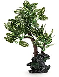 sourcing map Ornamento Planta Decorativa Árbol de Plástico Verde Decoración para Acuario Pecera Tanque ...