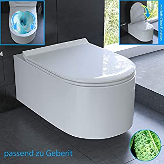 Rimless Design Wall Toilet with Toilet Seat Rimless Wall Toilet Including Nano Suitable for Geberit