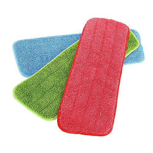 Vadrouille Abnehmbare Reinigungstuch aus Mikrofaser, geeignet für alle Wischmopp & Wischmopp, 42 x 14 cm (3 Stück)