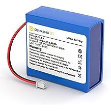 Detectalia - Pack detector de billetes falsos + Batería de litio universal para detectores de billetes