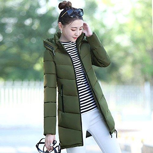 DYF Daunenmantel Farbe Größe hat Reißverschlusstasche Langarm Warm, Militär Grün, XXL (Hut Militär Xxl)
