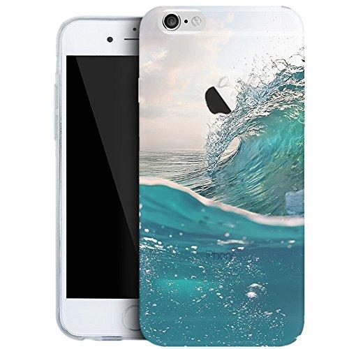 iPhone 8 Plus Hüllen, Vandot 3D Landschaft Handyhülle für iPhone 8 Plus Handytasche (5.5 Zoll) TPU Sillikon Transparent Muster Malerei Passgenaues Case Cover Thin Pattern Weich Etui Handy Schutz Tasch Muster 5