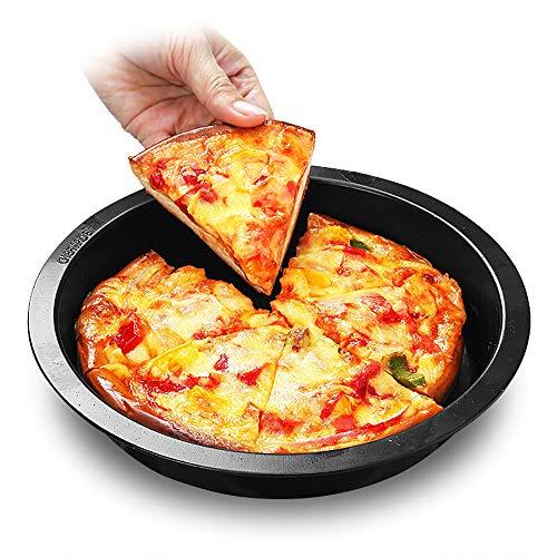QJJML KüChenbackform, 8-Zoll-Antihaft-Pizzaplatten-Backblech, Leicht Zu Entformen, Leicht Zu Reinigen, Nicht Leicht Zu Verformen (2 StüCk) (8-zoll-kuchen Pan Set Von 2)