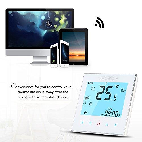 Anself WIFI Intelligenter Raumthermostat Elektroheizung Programmierbarer Temperaturregler mit LCD Touchscreen - 5