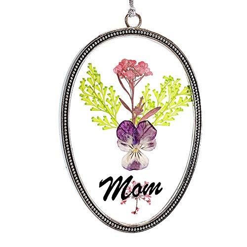 Banberry Designs Sonnenfänger mit Gepressten Blumen, dekoratives Glas, mit bunten getrockneten Blumen, Mutter (Getrockneten Gepressten Blumen)