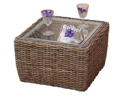 moebel direkt online Table d'appoint Tantisch conseil table avec Plateau en verre Verre de protection - Kubu gris, 32x50x50