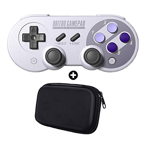 WILLGOO 8Bitdo SN30 Pro Wireless Bluetooth Controller with Joysticks Rumble  Vibration USB-C Cable Gamepad + Carrying Bag