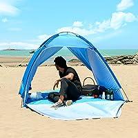 WolfWise UPF 50+ Abris de Plage, Anti-UV Tente de Plage, Tente Instantanée Portable, En plein air, Parasol de Plage, Sportive en Plein Air Super Solide