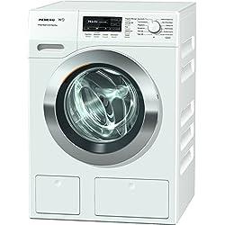 Miele WKH131WPS D LW PWash 2.0 und TDos Waschmaschine Frontlader/ A+++ / 137 kWh / Jahr / 1600 UpM / 8 kg / Weiß / Schneller sauber geht es nicht - QuickPowerWash / Bestes Flüssigwaschmittel auf Knopfdruck