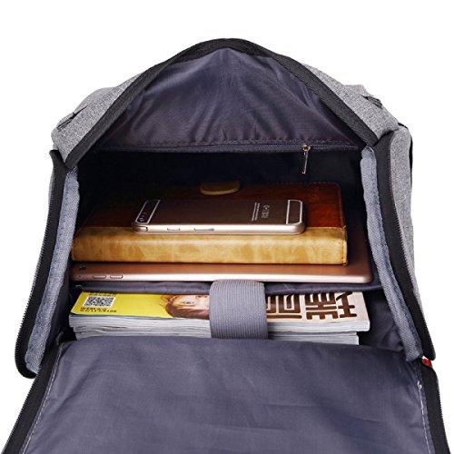 Damen-Umhängetasche Student-Tasche Freizeit-Reise-Rucksack,Gray Pink