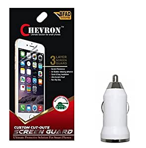 Chevron Diamond Screen Guard Protector For hTC Desire 516 With USB Car Charger
