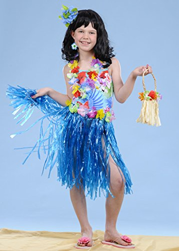 BOLAND BV Kids Size Blue Hula Grass Skirt