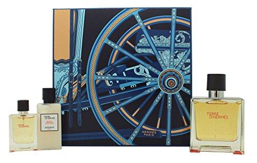 Hermes Terre D'Hermes Geschenkset 75ml EDP + 12.5ml EDP + 40ml Aftershave Balm
