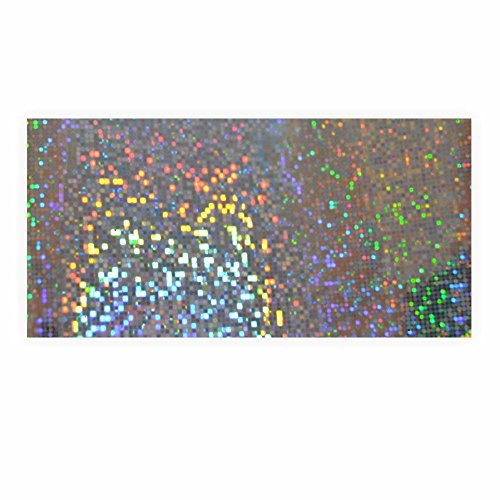 Holographische Folie Dots silber 40 x 100cm 1 Rolle -