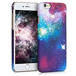 kwmobile Apple iPhone 6 / 6S Hülle - Handyhülle für Apple iPhone 6 / 6S - Handy Case Cover Schutzhülle - Space Design Mehrfarbig Pink Schwarz
