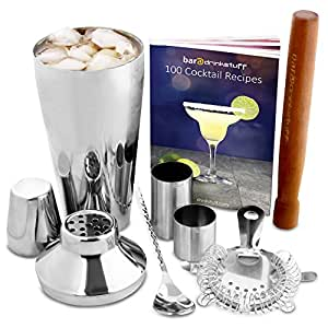 manhattan cocktail set cocktail shaker set and home cocktail making kit with recipe book. Black Bedroom Furniture Sets. Home Design Ideas