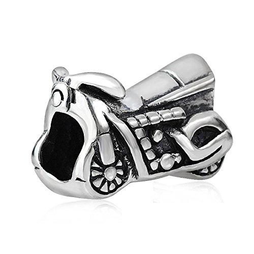 soulbead auténtica plata de ley 925colgante de moto motocicleta cuentas para pulsera...