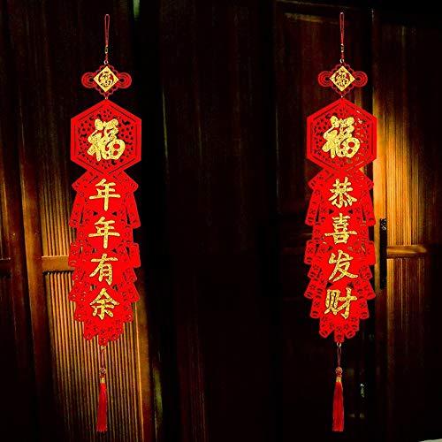 Chinesische Neue Jahr Dekorationen Stoffe Couplet DIY Weihnachten Dekorationen Für Haus Neue Jahr 2019 Decor Haus Moving Weihnachten Anhänger - Chinesische Neues Jahr-dekorationen