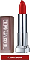 Maybelline New York Color Sensational Creamy Matte, 634 Bold Crimson, 3.9g