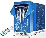 Manatee, stendibiancheria portatile elettrico a 1200 W, 15kg di capacità, a risparmio energetico (anioni), stendibiancheria pieghevole ad asciugatura rapida, efficiente timer automatico