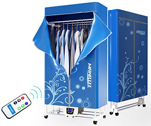 Étendoir à linge 1200W électrique portable - Séchoir à linge pliable capacité de 15kgs - Meilleur économiseur d'énergie (anion) - Séchage rapide et ...