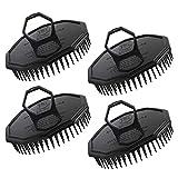 4pcs noir brosses de shampooing, Segbeauty cuir chevelu Massager Brush Set de coiffure hommes Style de cheveux peigne Brosse de...