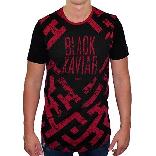 BLACK KAVIAR Maze T-Shirt M dunkelrot