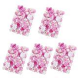 Baoblaze 5pcs Künstliche Blumen Säule, Diy Blumenwand Hochzeit Kunstblumen Deko