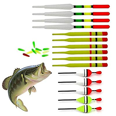 UOBLTD 15Pcs Assorted Course Carp Fishing Float Tackle Set & Rubbers Fishing Articles Buoy by UOB