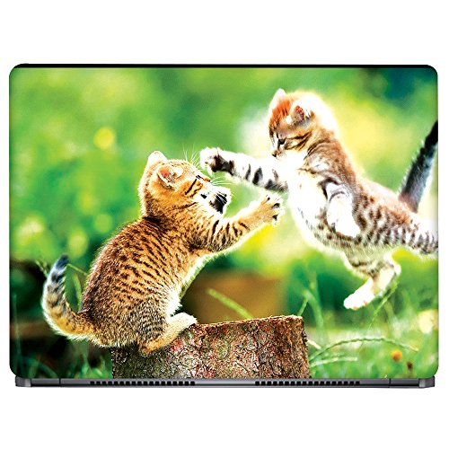 Crazyink Two Kittens Playing Laptop Skin (13 to 14 inch)