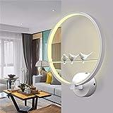 ILYSNBD Wandlampe Moderne minimalistische Wandlampe Nachttischlampe Gang Wand Lampe Schlafzimmer Wohnzimmer Wand Lampe Vogel