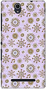 The Racoon Grip printed designer hard back mobile phone case cover for Sony Xperia C3. (flower bub)