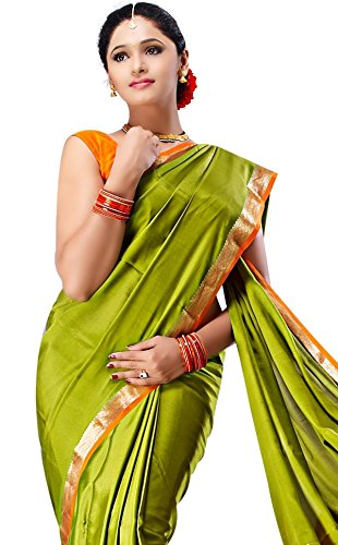 Sudarshan Crepe 100% Pure Mysore Traditional Silk Saree (SSSB12_Green)