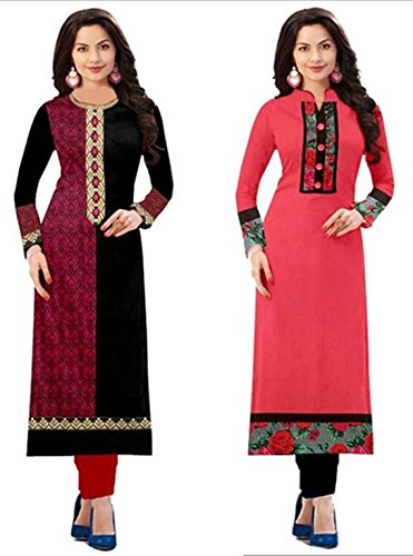 Amazon Prime Day Sale Offer On Cotton Kurti Combo Pack For Women New Collection Cotton Material Semi_stiched Printed Multicolored Kurti For Women In Low Price Combo (Pack Of 2)