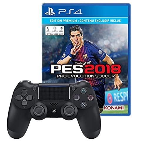 Pack Manette DualShock V2 PS4 + PES 2018
