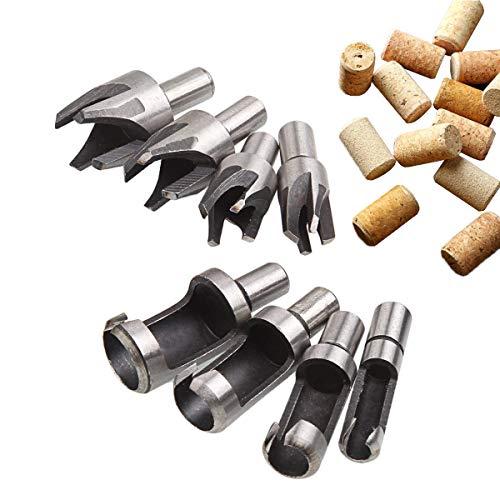 Plug Cutter (CUKCIC Zapfenschneider Kohlenstoffstahl Dübel Zapfenbohrer Plug Cutter 8tlg)