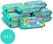 Pampers Baby Fresh Salviettine, 12 Confezioni da 50 Pezzi, 600 Salviettine