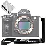 First2savvv Profi Aluminium L-förmigen Digitalkameras vertikalen Schnellwechselplatte für Sony Alpha A7R III . A7 III + Reinigungstuch - LLX-A7R III-01G11