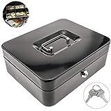 PrimeMatik - Cassetta portavalori portatile per banconote e monete 249 x 198 x 88 mm