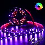 LED Streifen, TopKeep LED Strip 2m 60 LED SMD 5050 RGB Stripes mit 44 Tasten IR Fernbedienung Netzteil 12V 2A für Bar Theke Schrank Beleuchtung
