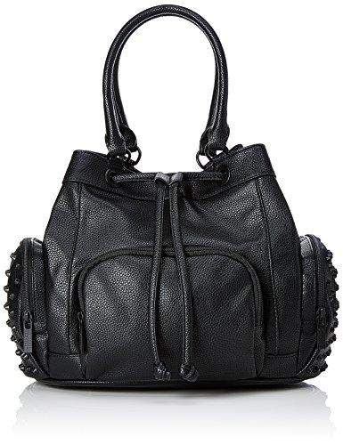 Steffen Schraut Damen Madison Rivet Bag Henkeltasche, Schwarz (Black), 21x27x32 cm (Damen Rivet Fashion)