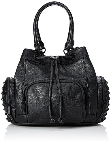 Steffen Schraut Damen Madison Rivet Bag Henkeltasche, Schwarz (Black), 21x27x32 cm (Damen Rivet)
