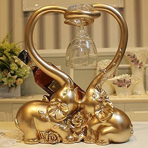Salon européen de la maison de mariage cadeau de vin en verre vitrine de vin décoration pratique-Or