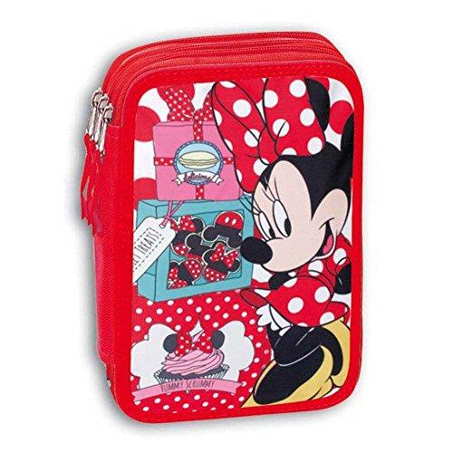 Minnie Mouse - Das dreistöckige Schule Bleistift-Box mit Geräten