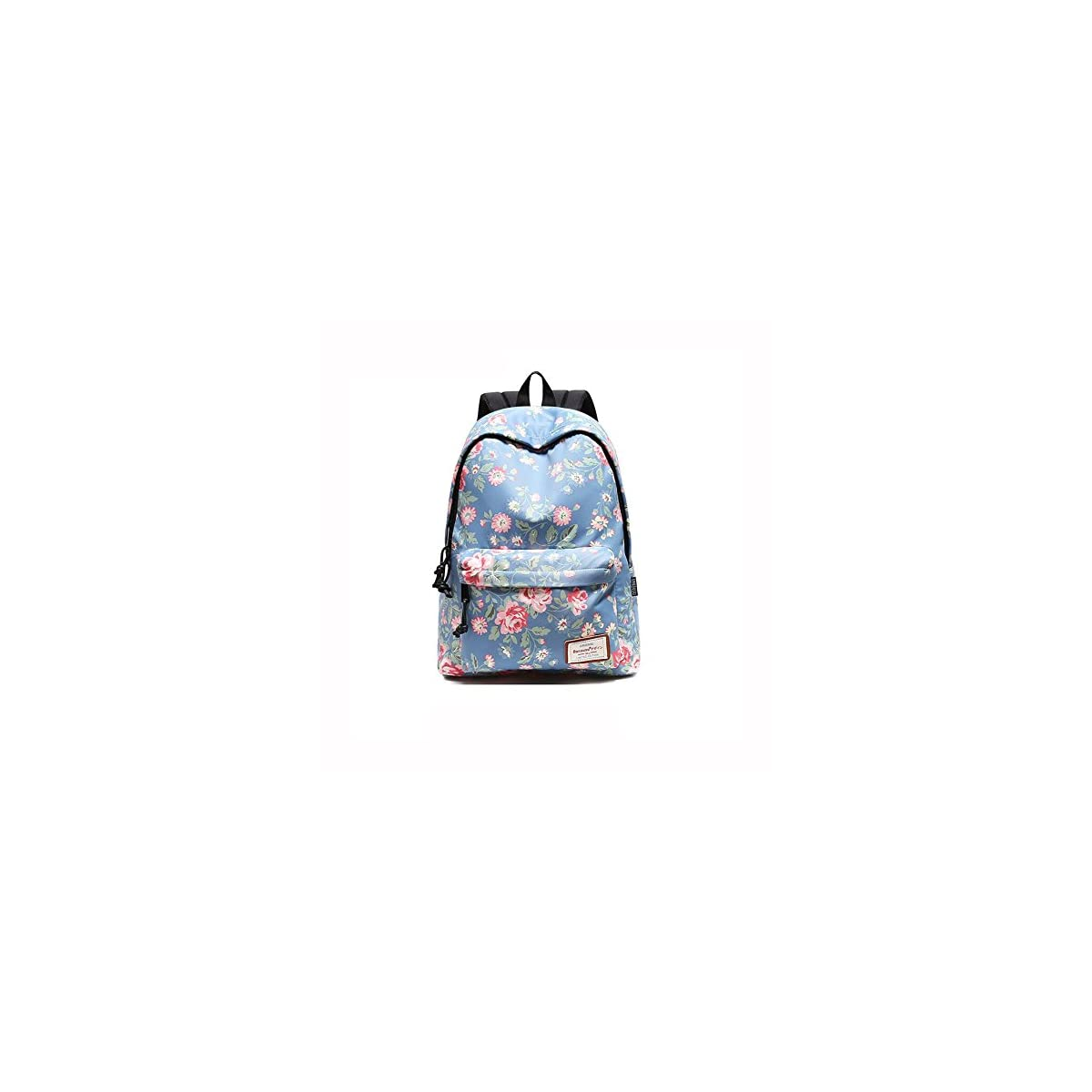 51JzGK4JODL. SS1200  - Beibao HQ Mochila Floral Bolso De Escuela Moda Casual Estudiante Viaje Caminata Azul Claro