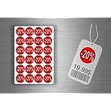 Lot etiquette sticker autocollant promotion soldes magasin promotion - -20% / x 96